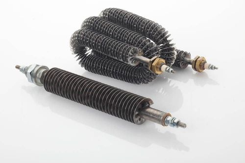 Tubular heaters with cooling fins